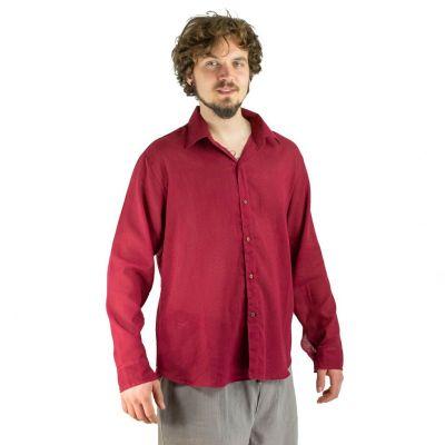 Pánská košile s dlouhým rukávem Tombol Burgundy