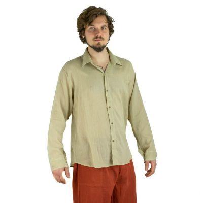 Pánská košile s dlouhým rukávem Tombol Light Brown