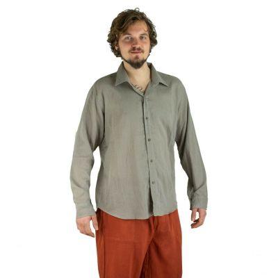 Pánská košile s dlouhým rukávem Tombol Medium Brown