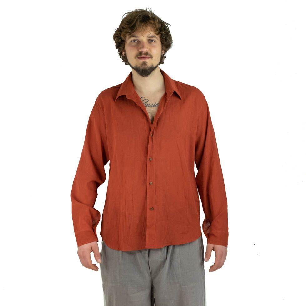 Pánská košile s dlouhým rukávem Tombol Orange