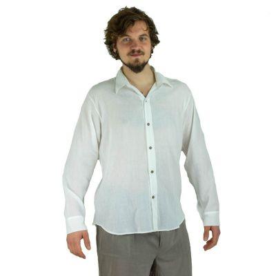 Pánská košile s dlouhým rukávem Tombol White