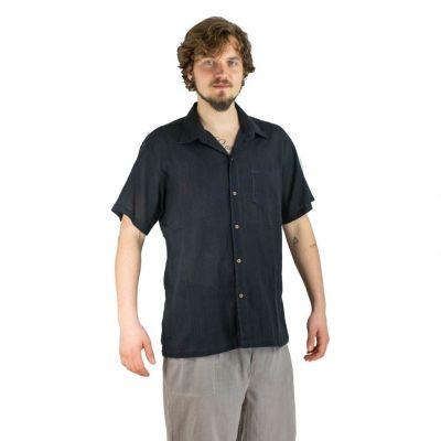 Pánská košile s krátkým rukávem Jujur Black