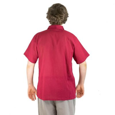 Pánská košile s krátkým rukávem Jujur Burgundy