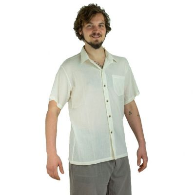Pánská košile s krátkým rukávem Jujur Cream