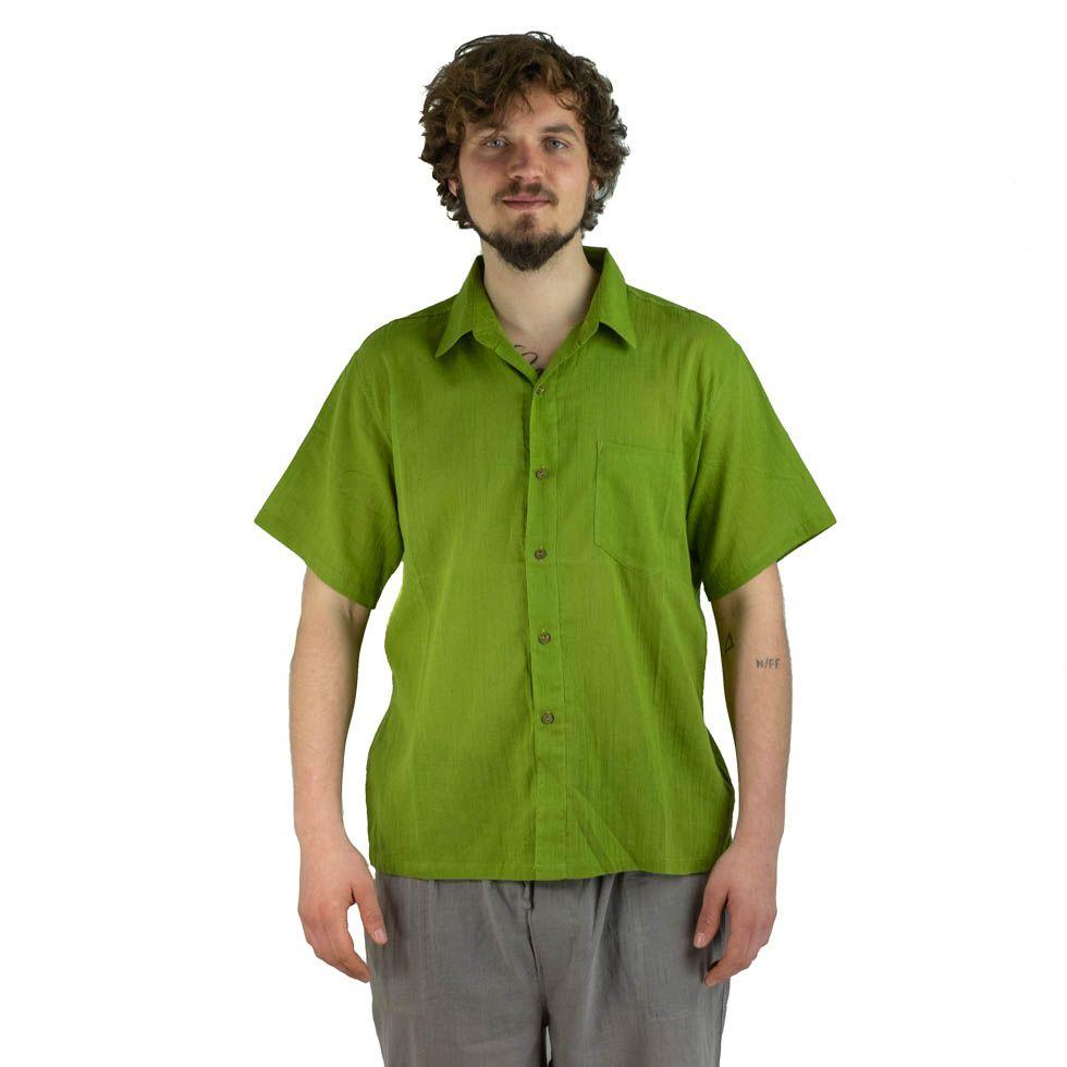 Pánská košile s krátkým rukávem Jujur Green