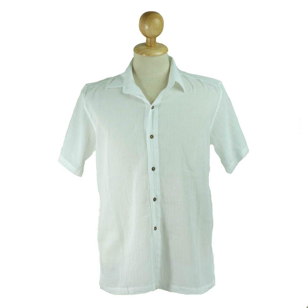 Pánská košile s krátkým rukávem Jujur White