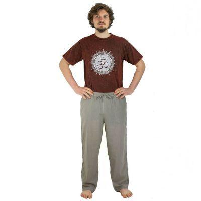 Kalhoty Tanawat Medium Brown