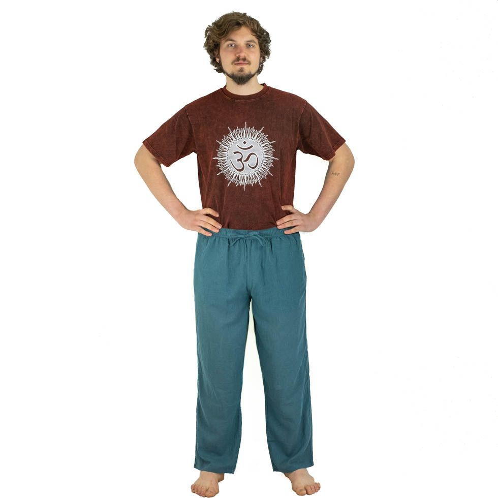 Pánské kalhoty Tanawat Teal Blue