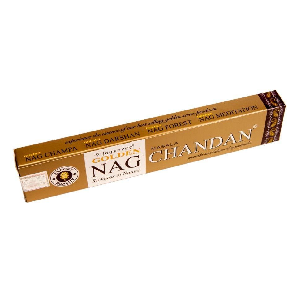 Vonné tyčinky Golden Nag Masala Chandan India