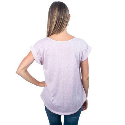 Dámské tričko s krátkým rukávem Darika Bodhi Tree Pink