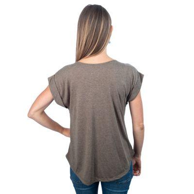 Dámské tričko s krátkým rukávem Darika Cacti Grey