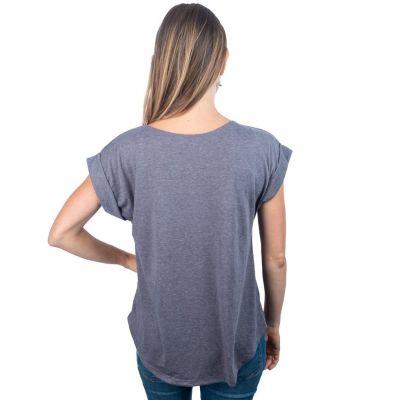 Dámské tričko s krátkým rukávem Darika Elephant Grey
