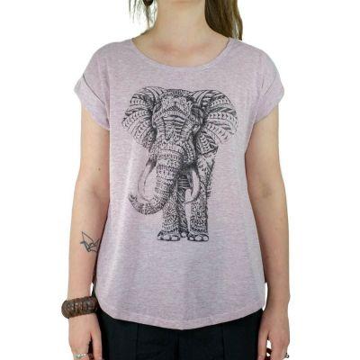 Dámské tričko s krátkým rukávem Darika Elephant Pink