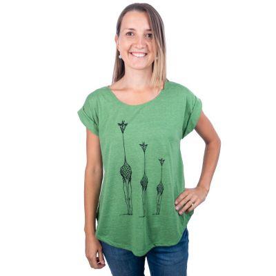 Tričko Darika Giraffe Family Green