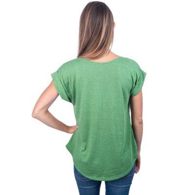Dámské tričko s krátkým rukávem Darika Hamsa Green