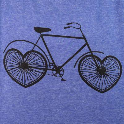 Dámské tričko s krátkým rukávem Darika Lovely Bike Blue