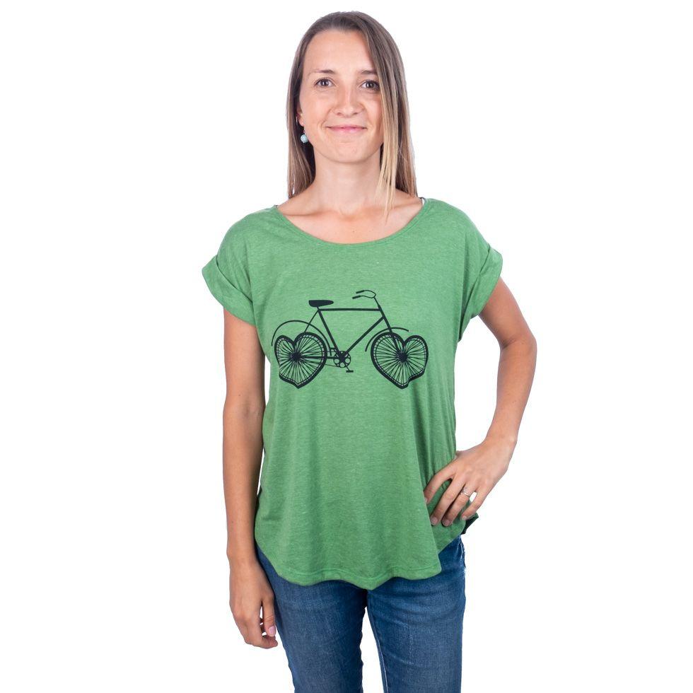 Dámské tričko s krátkým rukávem Darika Lovely Bike Green