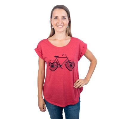 Tričko Darika Love Bike Red