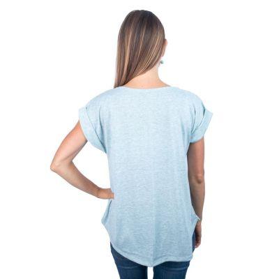 Dámské tričko s krátkým rukávem Darika Padmásana Light Green