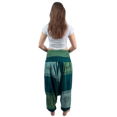 Kalhoty typu Alibaba - Telur Hijau