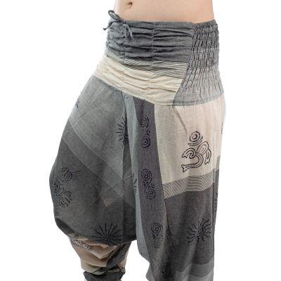 Kalhoty typu Alibaba - Telur Kelabu
