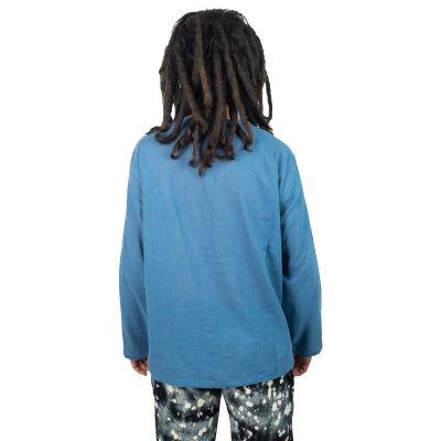 Kurta Abiral Blue - pánská košile s dlouhým rukávem