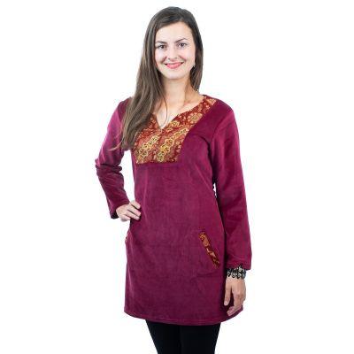 Sametové šaty Kareen Anggur