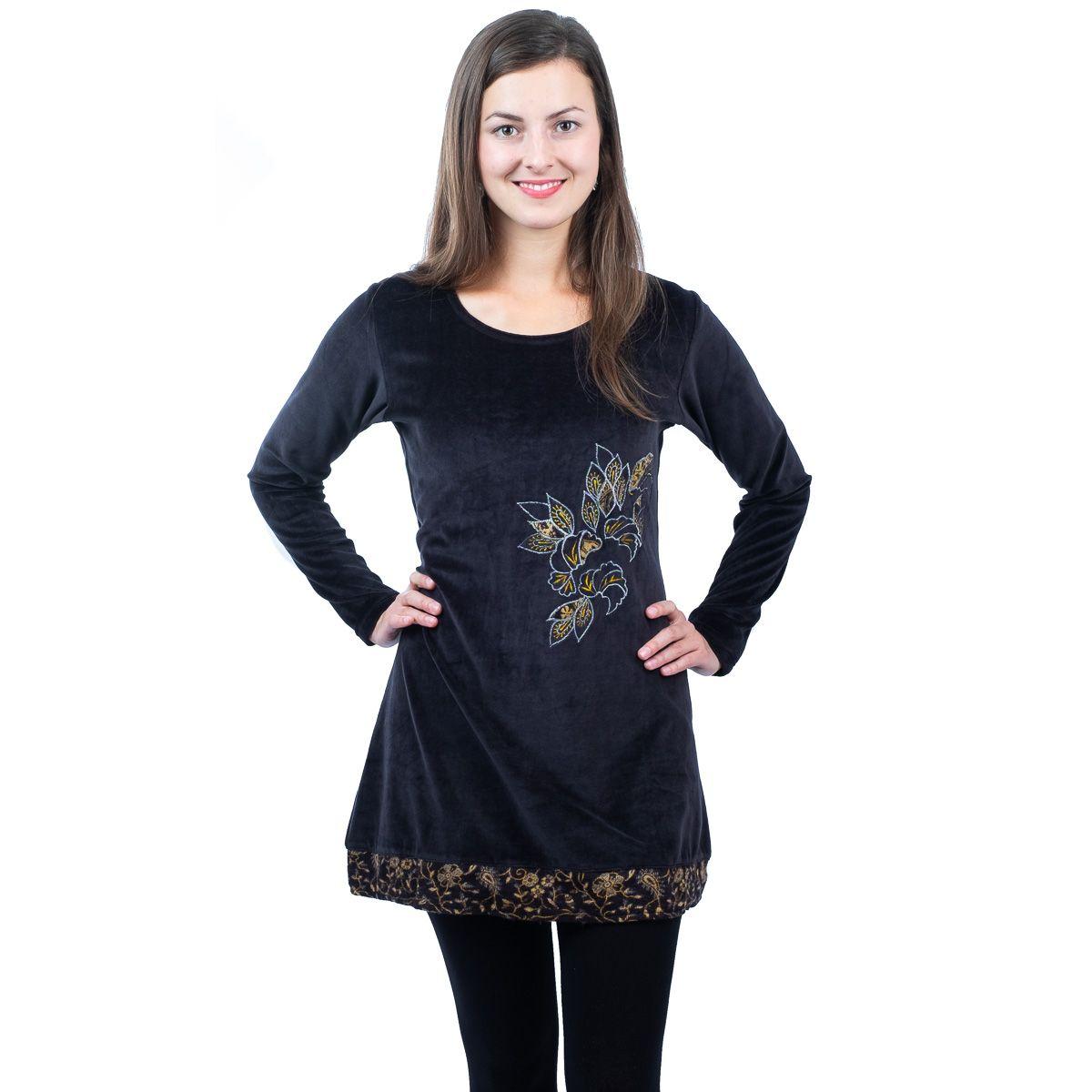 Sametové šaty Maeve Hitam