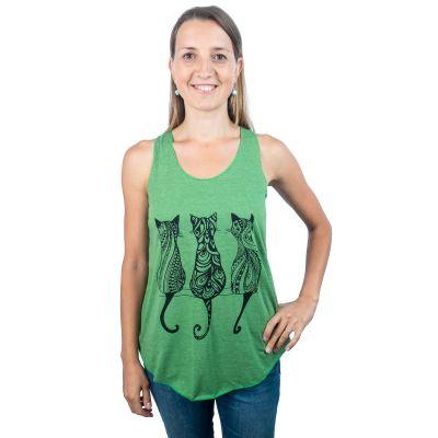 Tílko Darika Cats Green