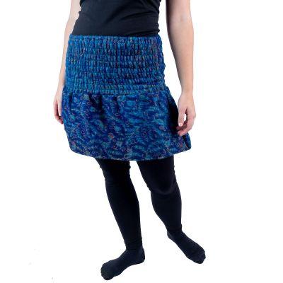 Akrylová zvonová mini sukně Hanima Indigo India