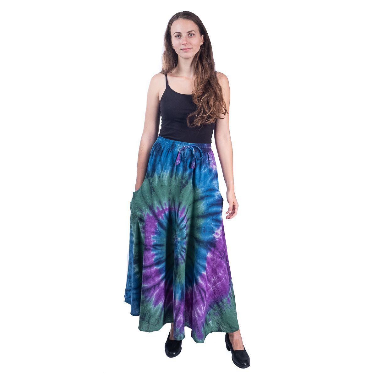 Dlouhá batikovaná etno sukně Sejun Winsome Nepal