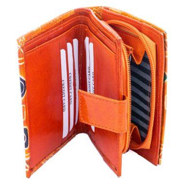 Kožená peněženka Faria - oranžová