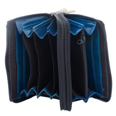 Kožená peněženka Kaneera - modrá