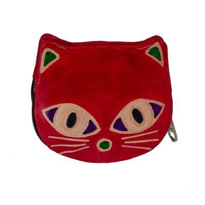 Peněženka Kočička  - červená
