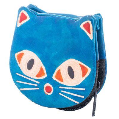 Peněženka Kočička  - modrá