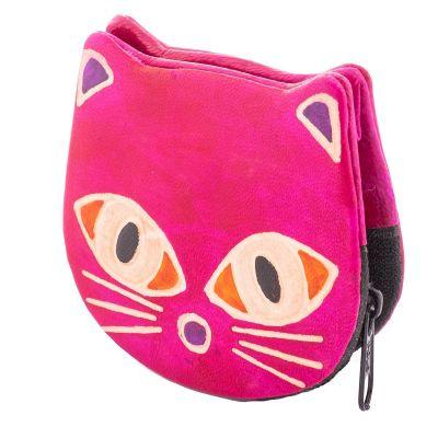 Peněženka Kočička  - růžová