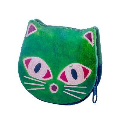 Peněženka Kočička  - zelená