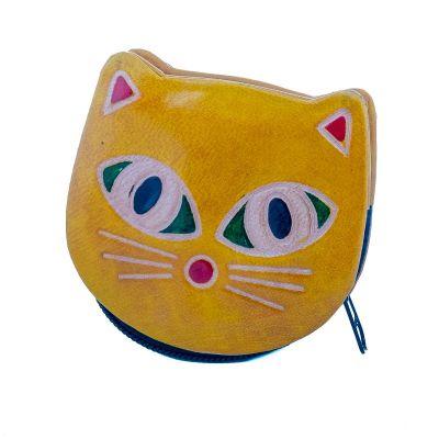 Peněženka Kočička  - žlutá