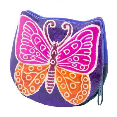 Peněženka Motýlek - fialová