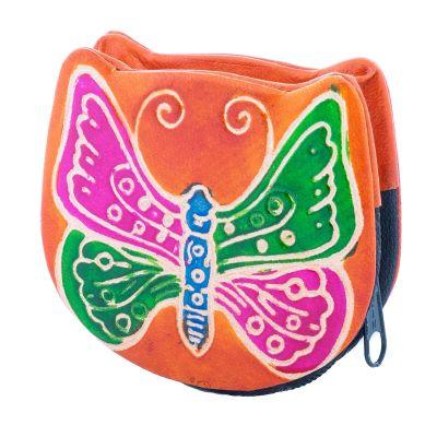 Peněženka Motýlek - oranžová