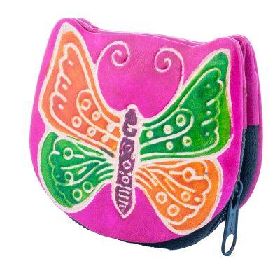 Peněženka Motýlek - růžová