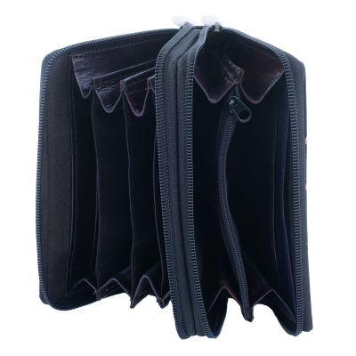 Kožená peněženka Samira - černá