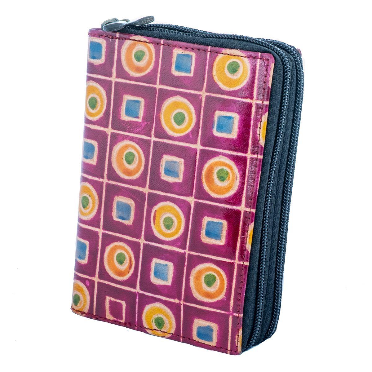 Kožená peněženka Samira - fialová