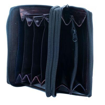 Kožená peněženka Yauvani - černá
