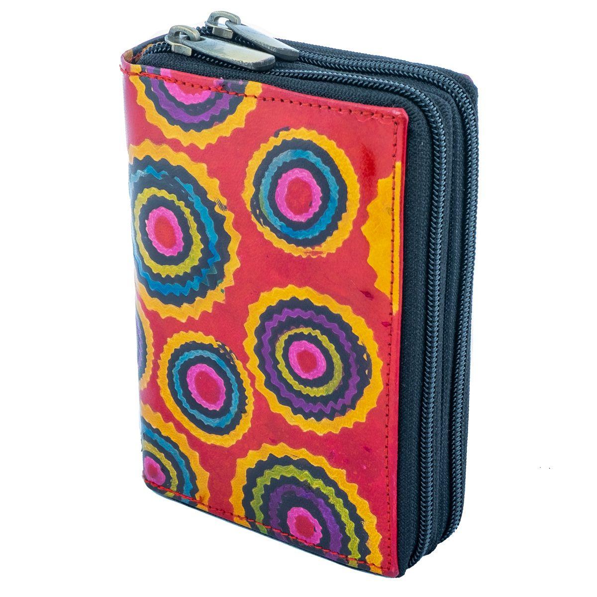 Kožená peněženka Yauvani - červená
