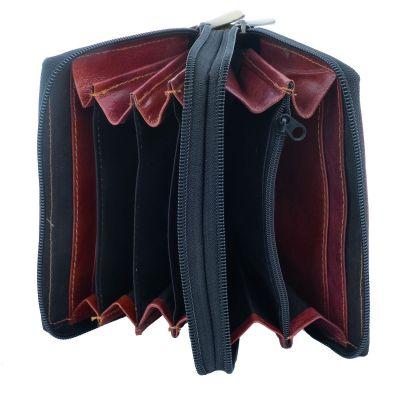 Kožená peněženka Yauvani - vínová