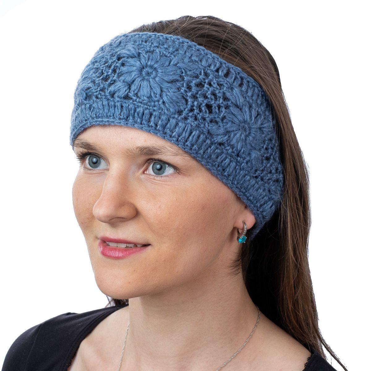Vlněná čelenka Bardia Blue