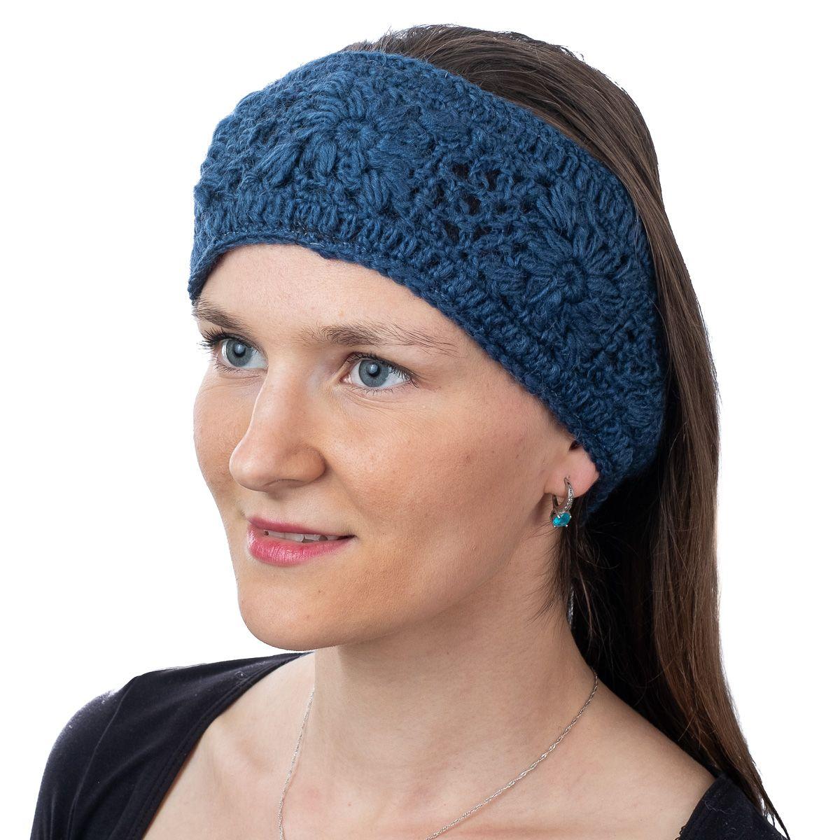 Vlněná čelenka Bardia Dark Blue