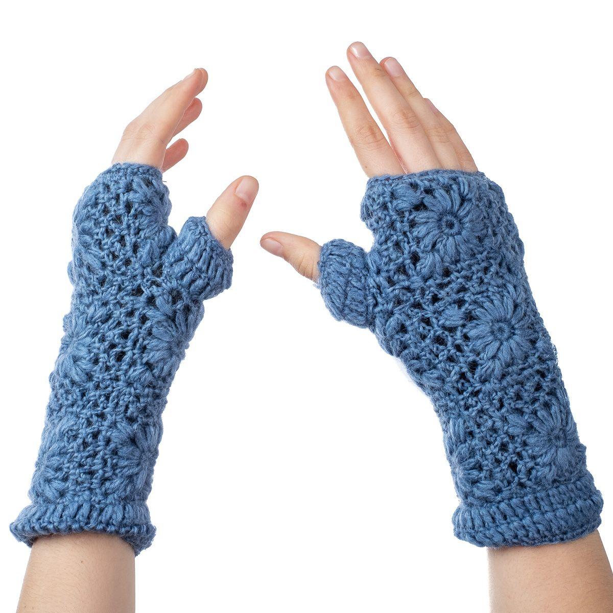 Vlněné návleky na ruce Bardia Blue