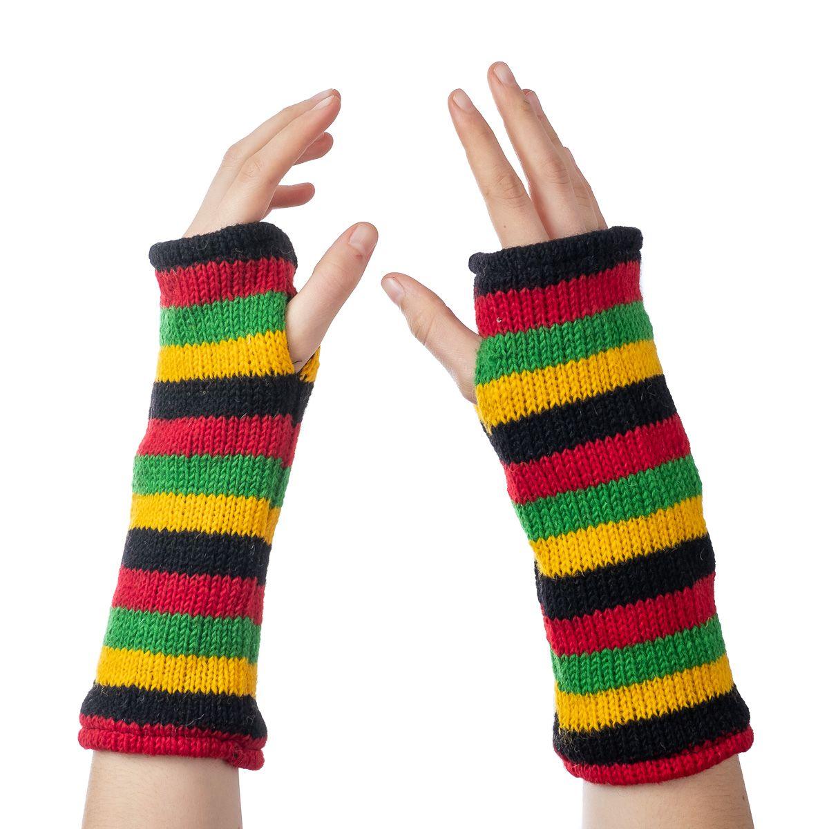 Vlněné návleky na ruce Lopika Rasta